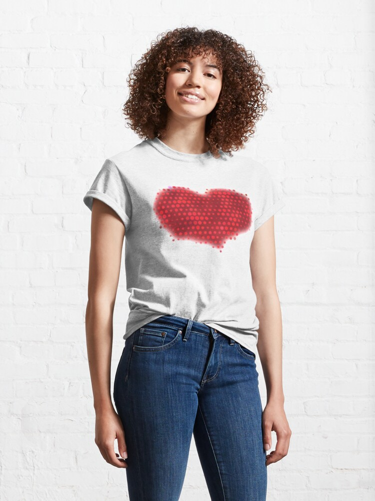 Alternate view of Glowing Red Heart Classic T-Shirt