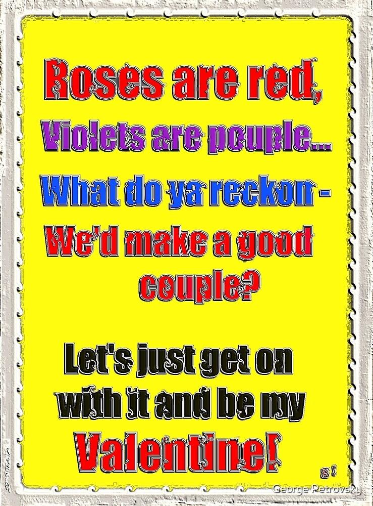 Romantic Aussie Valentine Card by George Petrovsky
