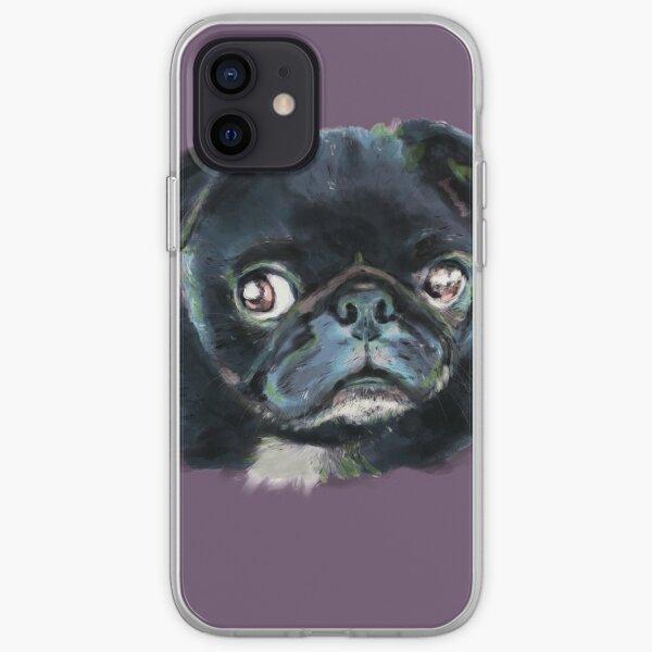 Blå Pug iPhone Soft Case