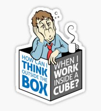 I work in a cube Sticker
