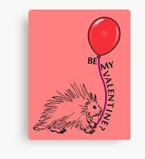 Valentine - Spiny Porcupine Canvas Print