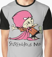 Calvin and Hobbes Stupendous Man Graphic T-Shirt