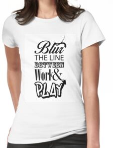 Blur the line... Womens Fitted T-Shirt