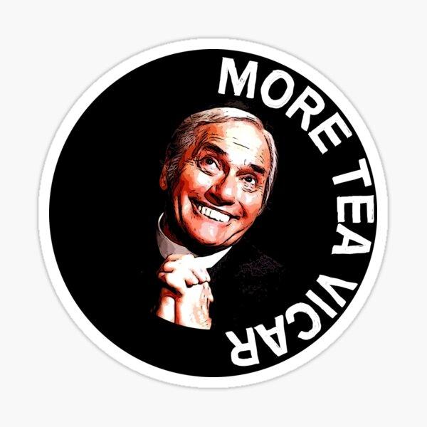 Dick Emery Vicar Nostalgia - Vicaire drôle - Eglise amusante - Cadeaux de pétant de thé - Thé d'amour Sticker