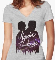 Murder Husbands [Galaxy] Women's Fitted V-Neck T-Shirt