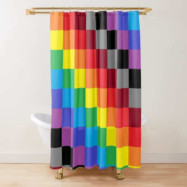 Colored Squares Shower Curtain