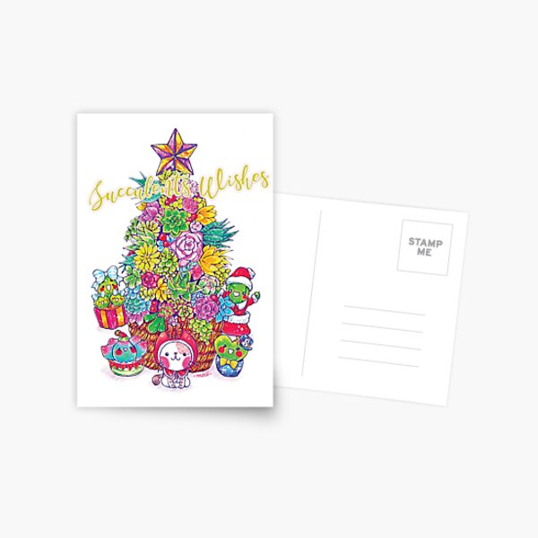 Succulents lovely greetings card Postcard