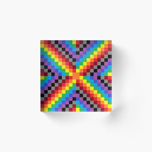 Colored Squares Acrylic Block