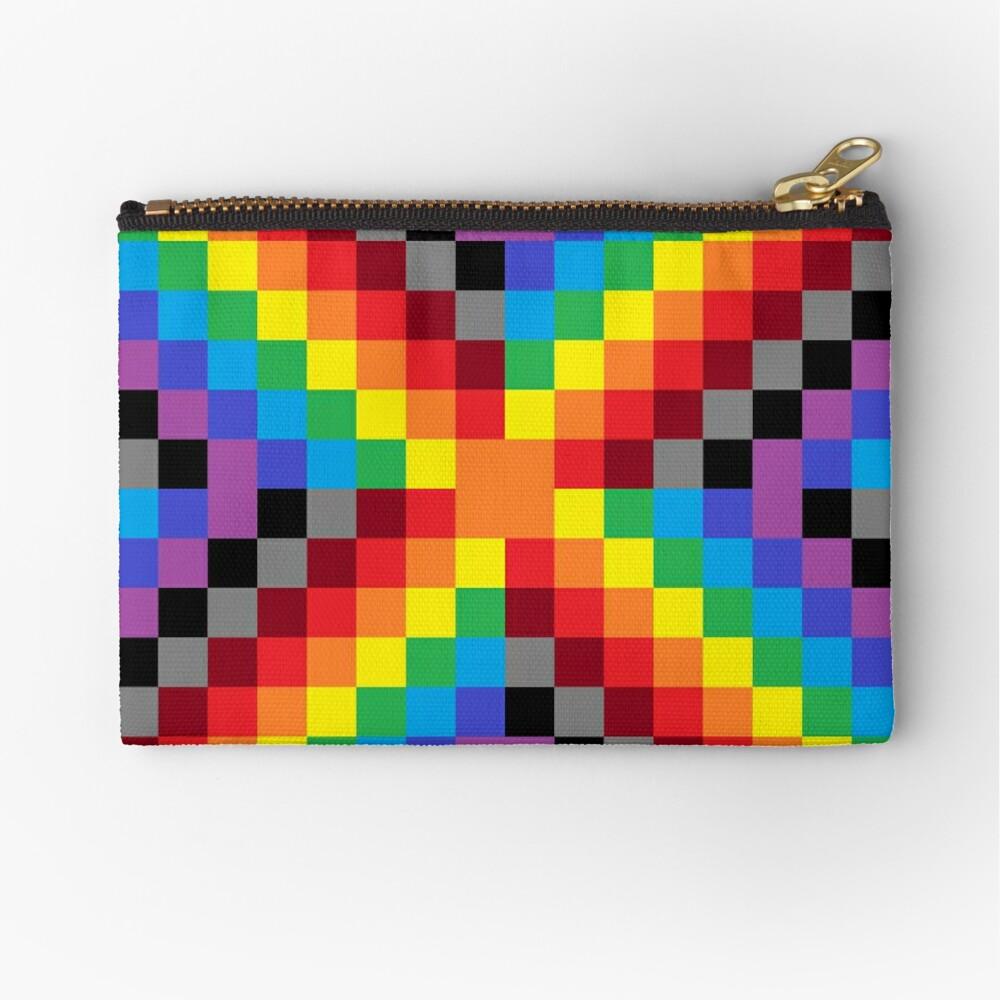 Colored Squares Zipper Pouch