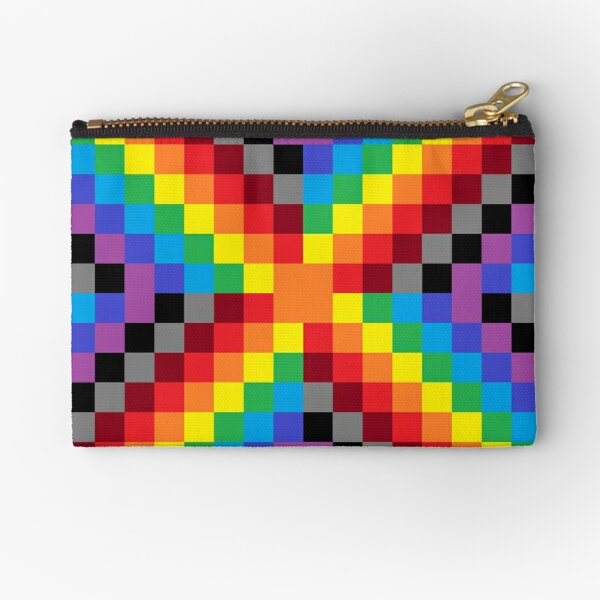 Colored Squares Zipper Pouch