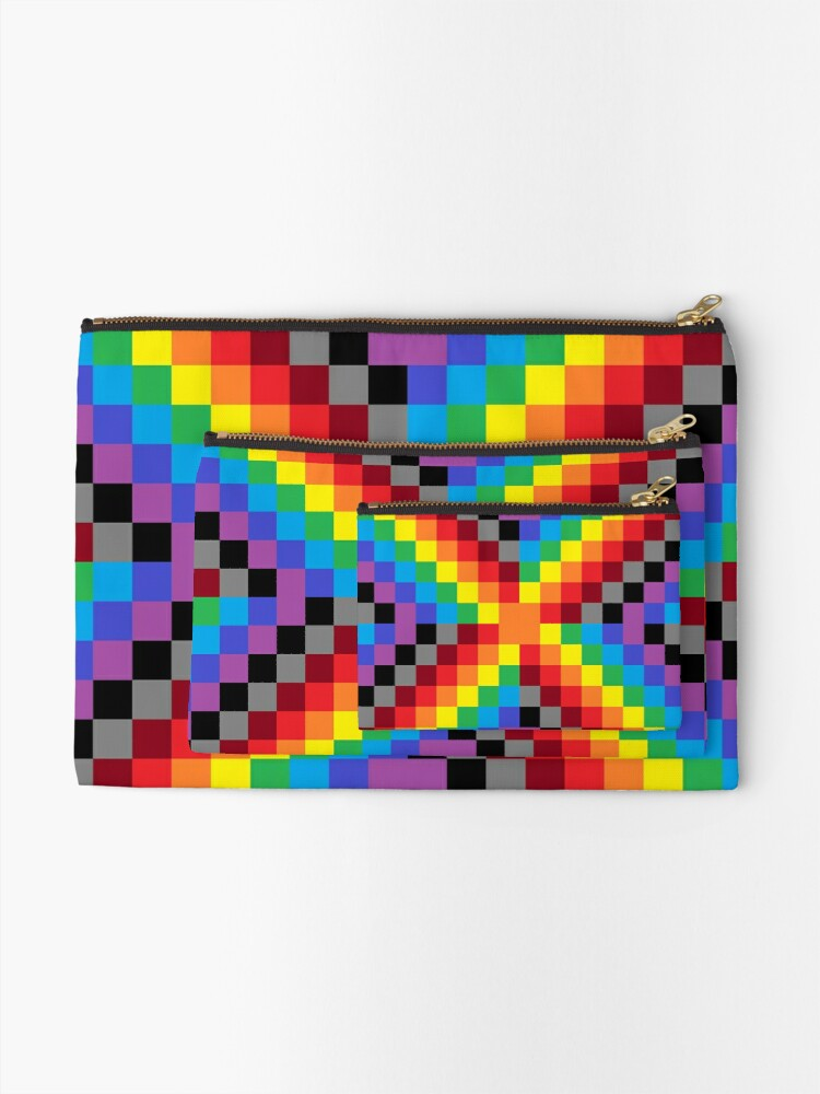 Alternate view of Colored Squares Zipper Pouch