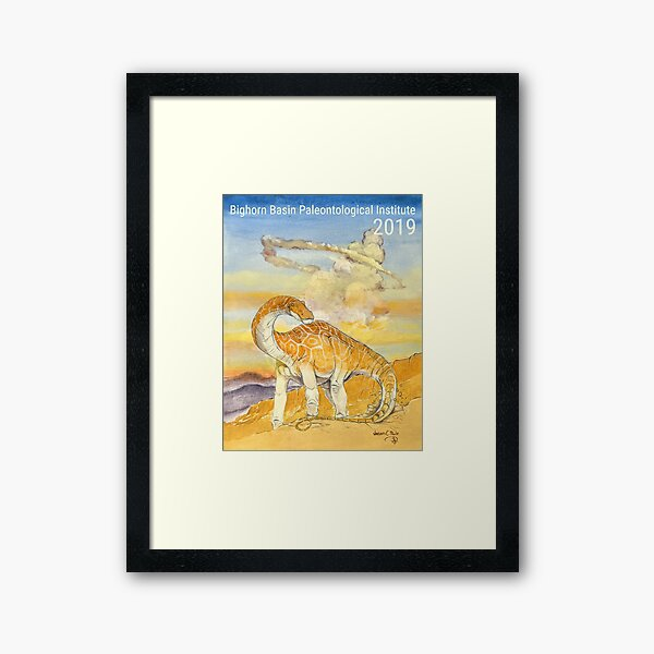 Bighorn Basin Paleontological Institute 2019 Field Season Expedition Series Poster by Jason C. Poole Framed Art Print