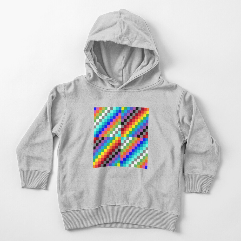 Colored Squares Toddler Pullover Hoodie