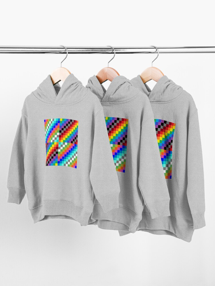 Alternate view of Colored Squares Toddler Pullover Hoodie