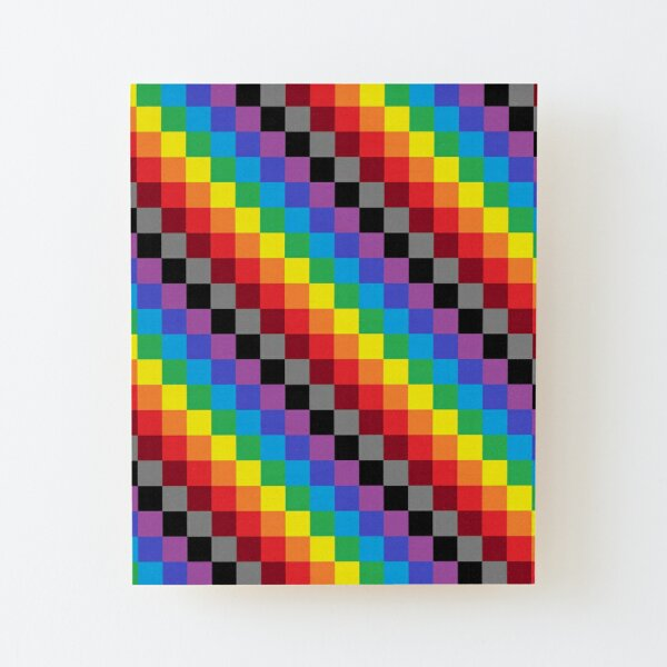 Colored Squares Wood Mounted Print