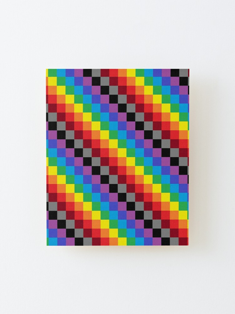 Alternate view of Colored Squares Mounted Print