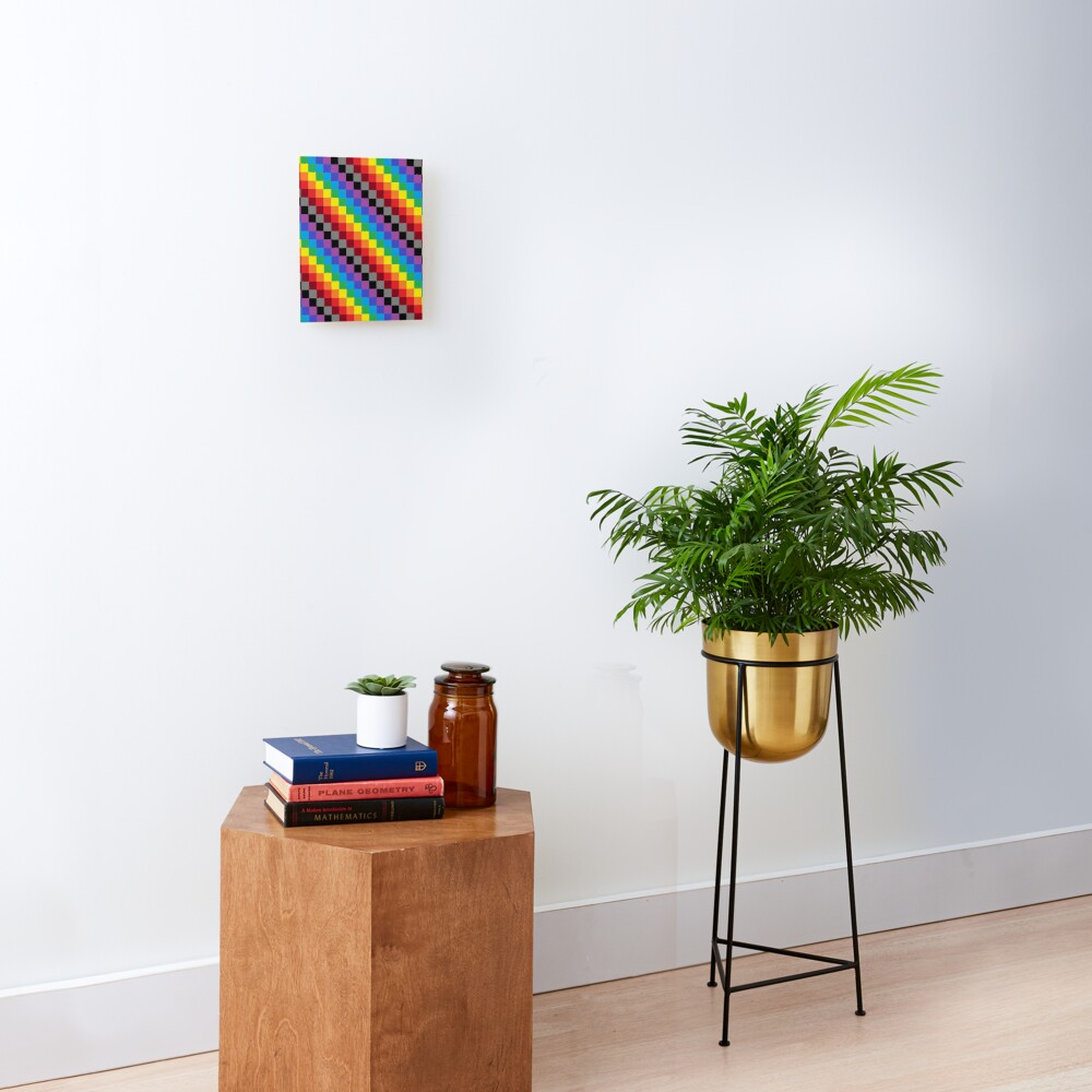 Colored Squares Mounted Print