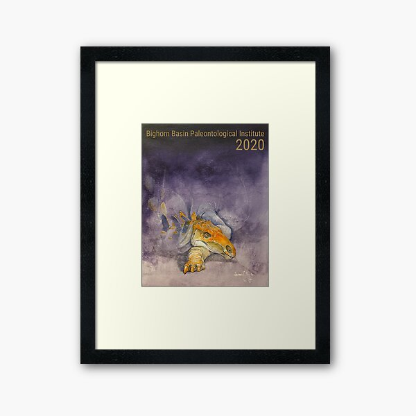 Bighorn Basin Paleontological Institute 2020 Field Season Expedition Series Poster by Jason C. Poole Framed Art Print
