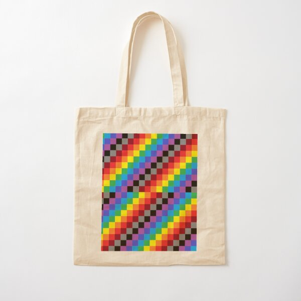 Colored Squares Cotton Tote Bag