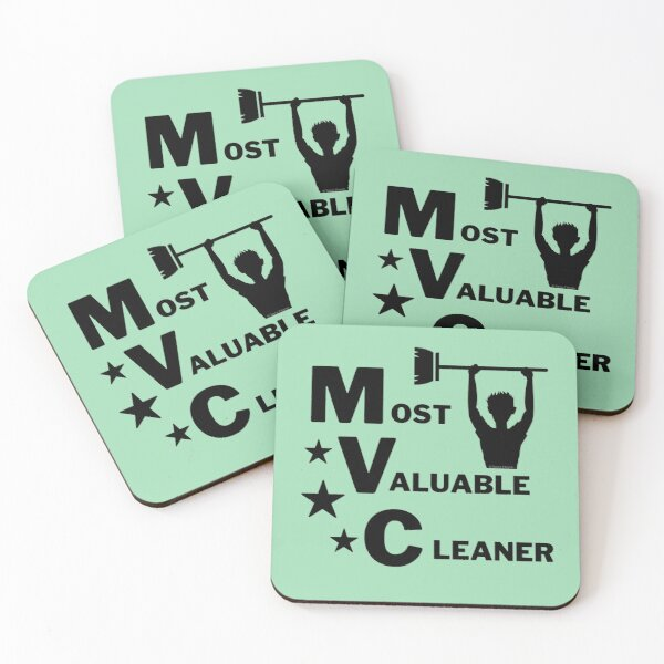 Most Valuable Cleaner Cleaning Crew Motivation Coasters (Set of 4)