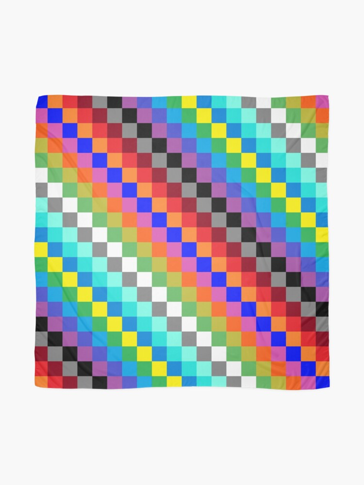 Alternate view of Colored Squares Scarf