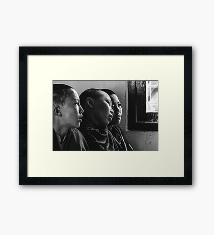 Contemplative Framed Print