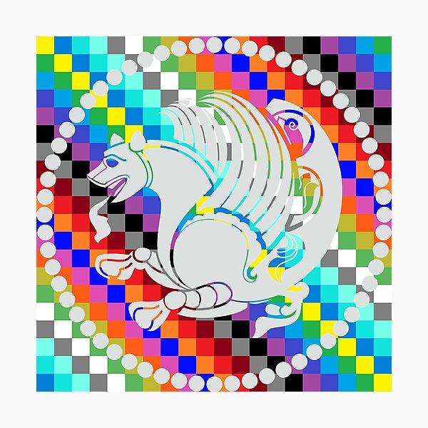 Simurgh Colored Squares Photographic Print