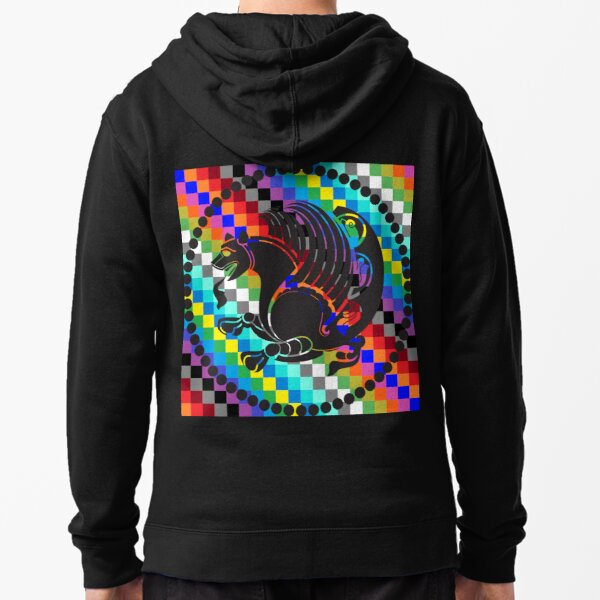 Simurgh Colored Squares Zipped Hoodie
