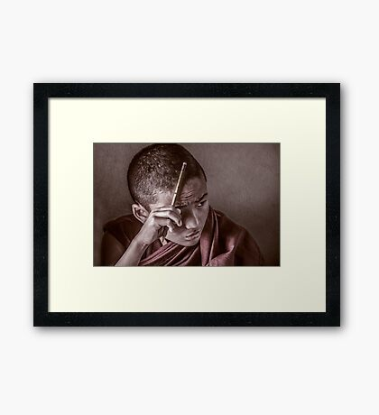 Mindful Monk Framed Print