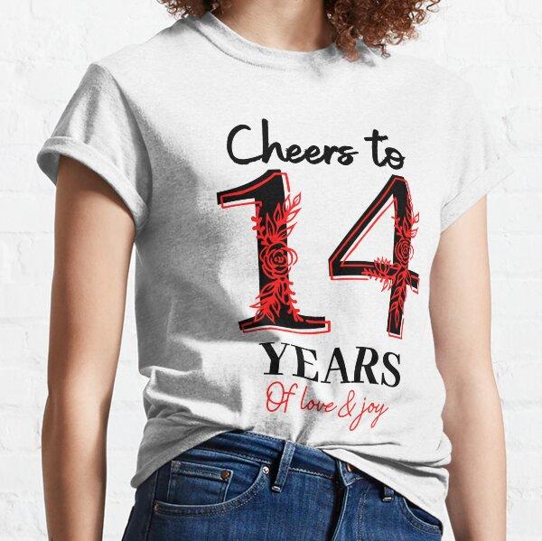 Saludos a los 14 años - 14 ° aniversario de bodas Camiseta clásica