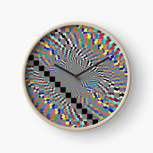 Trippy Colored Squares Clock