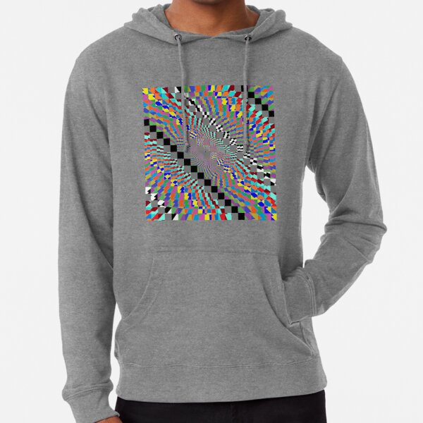 Trippy Colored Squares Lightweight Hoodie