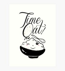 Time Oat Kawaii - Funny Oatmeal Art Print
