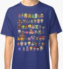 Super Smash Bros Wii U - Pixel Art Characters Classic T-Shirt