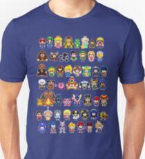 Super Smash Bros Wii U - Pixel Art Characters Unisex T-Shirt