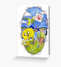 AdventureTime finn and jake Greeting Card