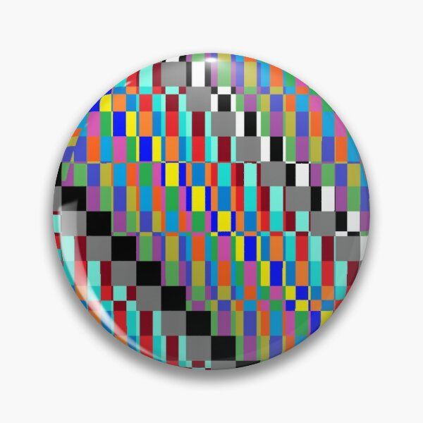 Horizontal Trippy Colored Squares Pin