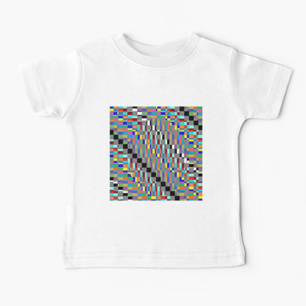 Horizontal Trippy Colored Squares Baby T-Shirt
