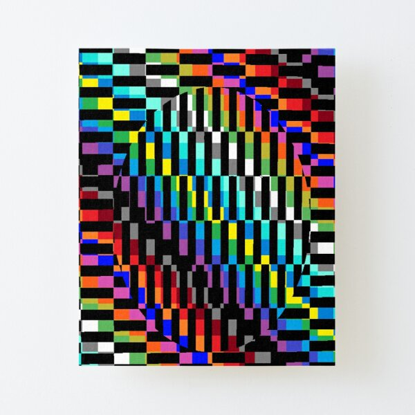 Trippy Colored Squares Canvas Mounted Print