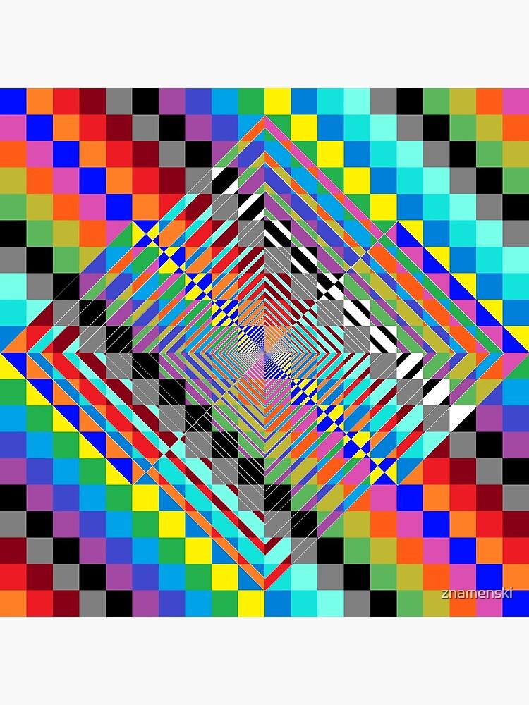 Trippy Colored Squares by znamenski