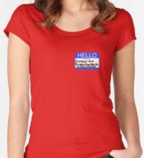 Hello My Name Is Esteban Julio Ricardo Montoya De La Rosa Ramirez  Women's Fitted Scoop T-Shirt