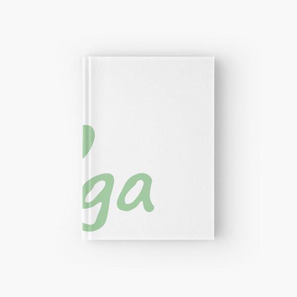 i love yoga font Hardcover Journal
