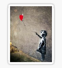 Banksy's Girl with a Red Balloon II Sticker