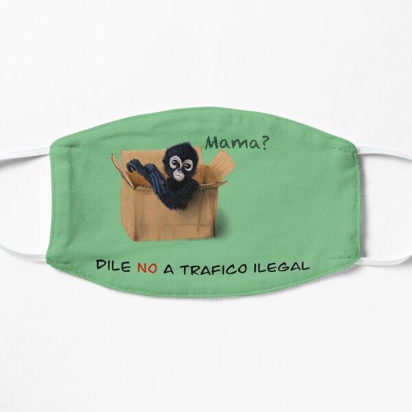 Dile No a trafico ilegal mono Flat Mask