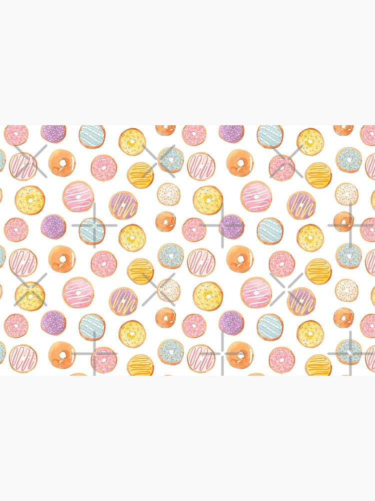 Watercolor Donuts - Rainbow Pastel by annieparsons