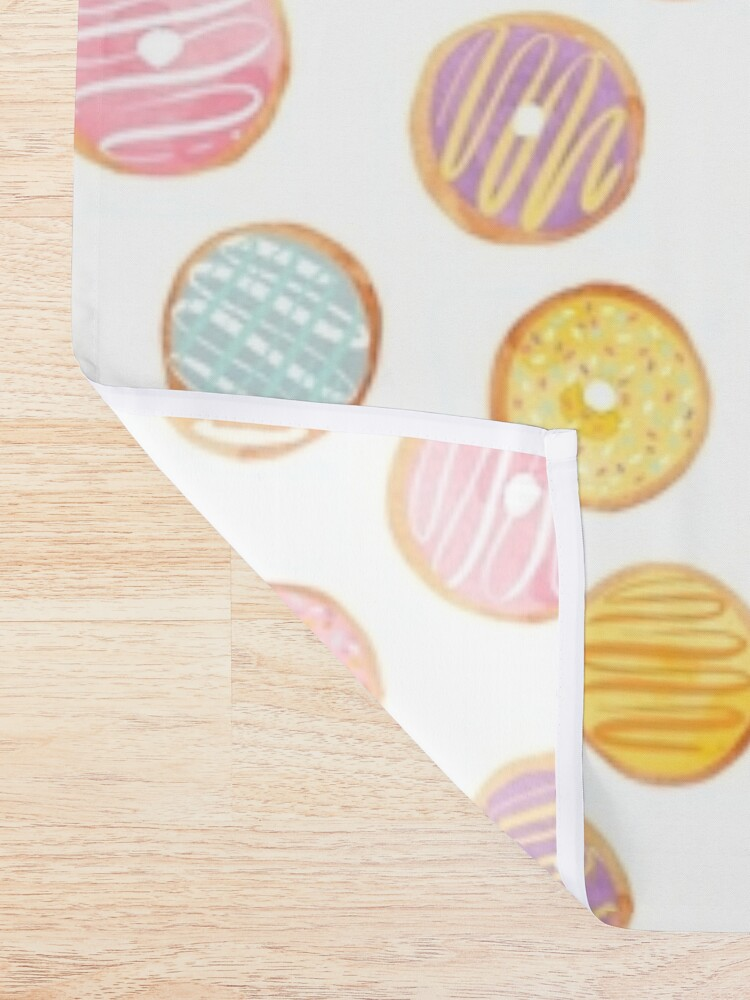 Alternate view of Watercolor Donuts - Rainbow Pastel Shower Curtain
