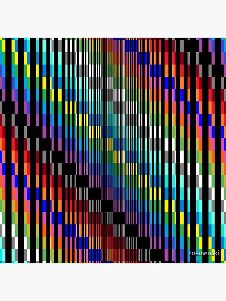Vertical Trippy Colored Squares by znamenski