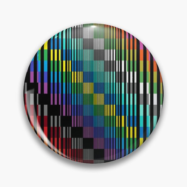 Vertical Trippy Colored Squares Pin