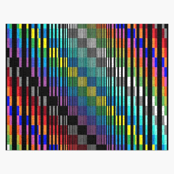Vertical Trippy Colored Squares Jigsaw Puzzle