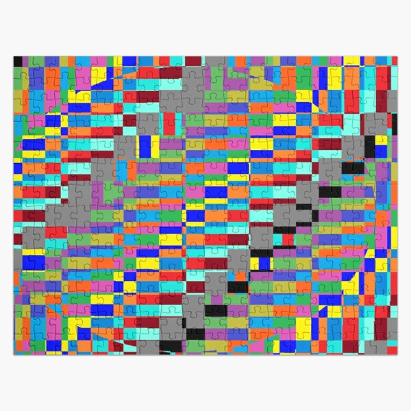 Trippy Vertical Colored Squares Jigsaw Puzzle